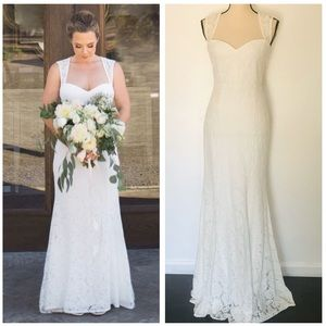 NWOT Lulus Rosetta White Lace Maxi Dress